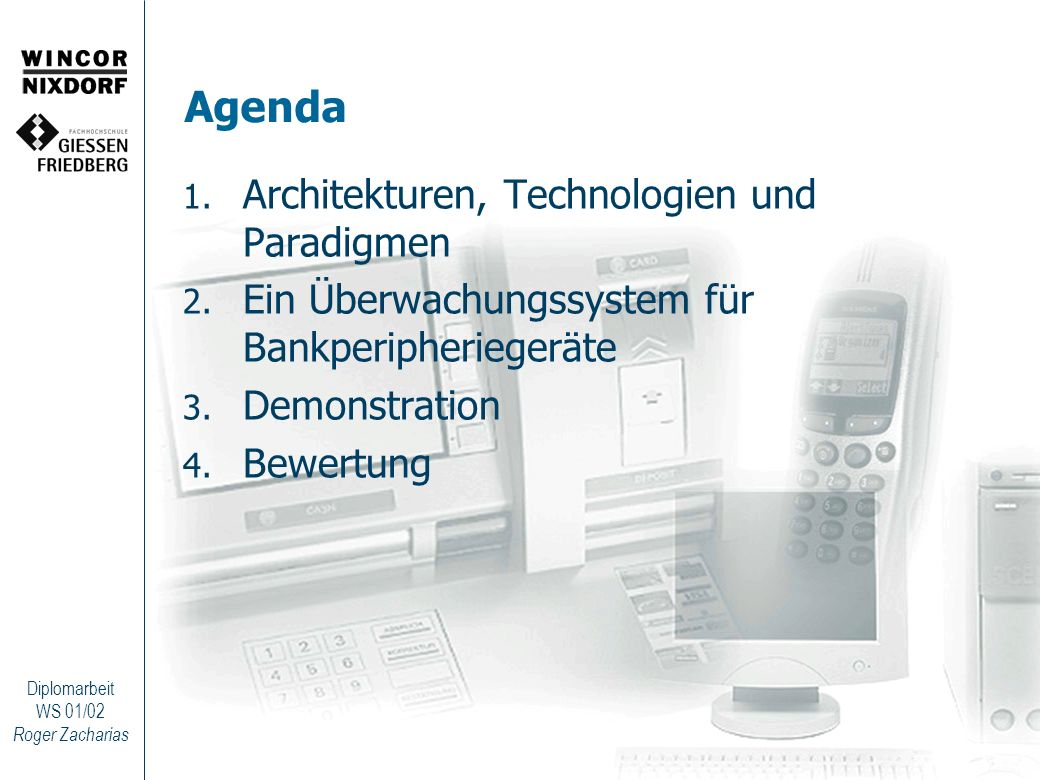 Agenda Architekturen, Technologien und Paradigmen