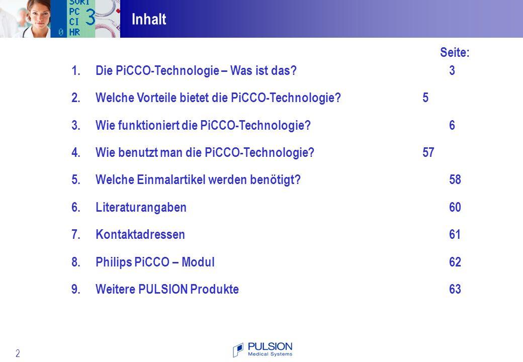 Inhalt Seite: Die PiCCO-Technologie – Was ist das 3