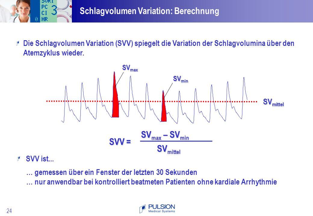 Schlagvolumen Variation: Berechnung