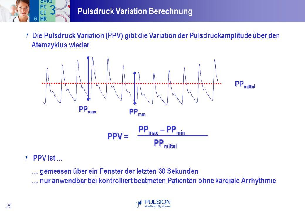 Pulsdruck Variation Berechnung