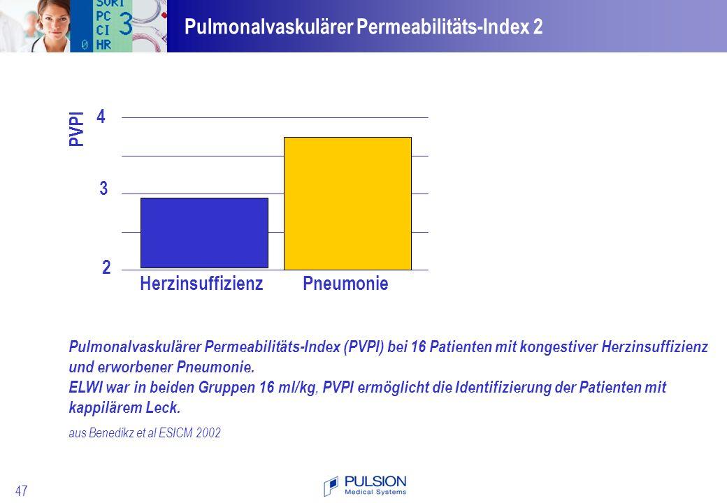 Pulmonalvaskulärer Permeabilitäts-Index 2