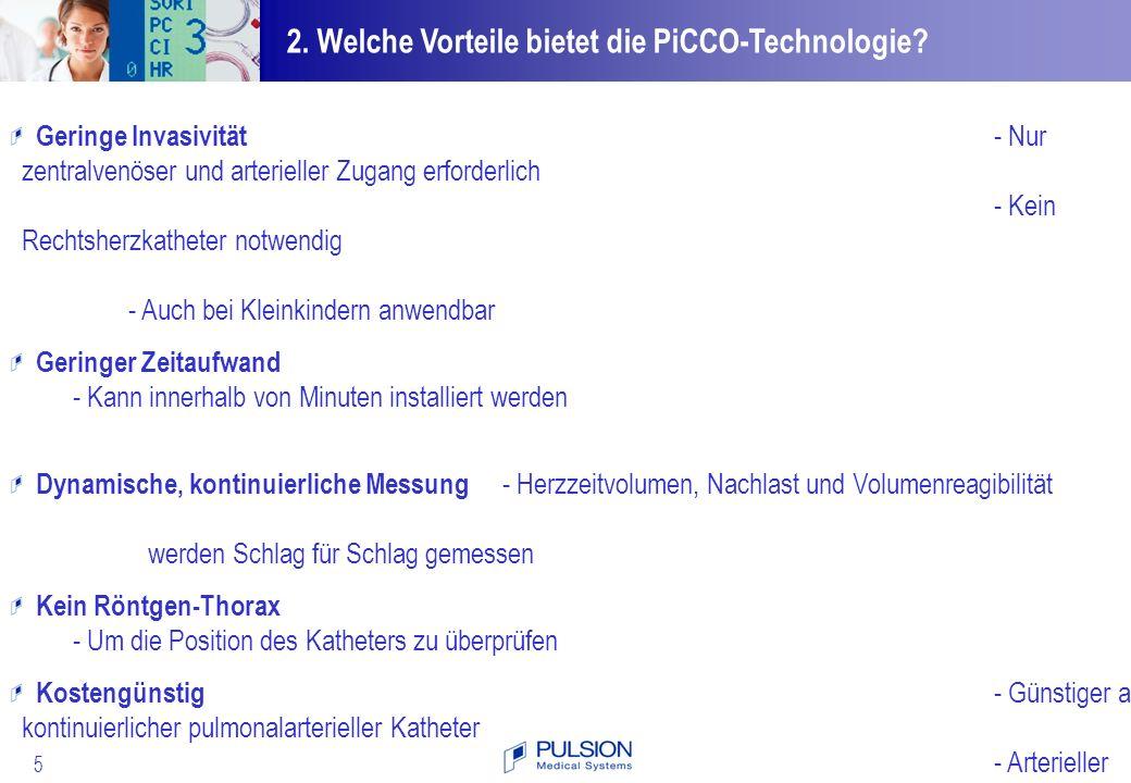 2. Welche Vorteile bietet die PiCCO-Technologie