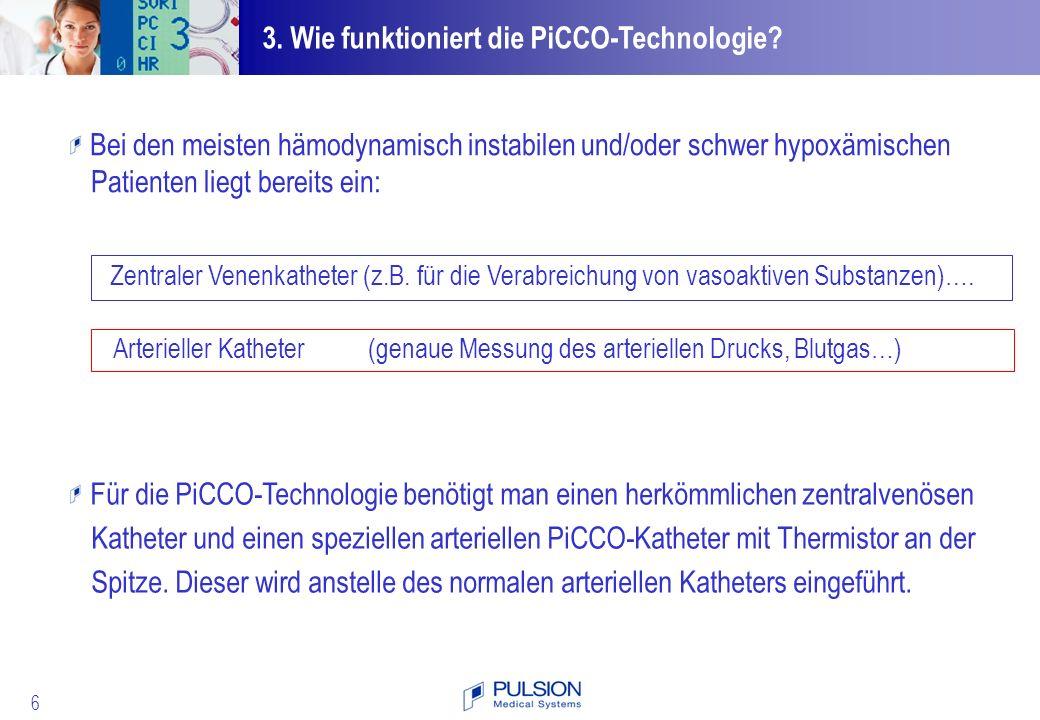 3. Wie funktioniert die PiCCO-Technologie