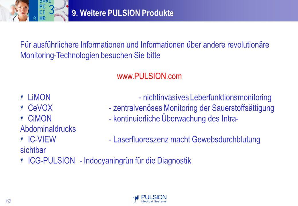 9. Weitere PULSION Produkte