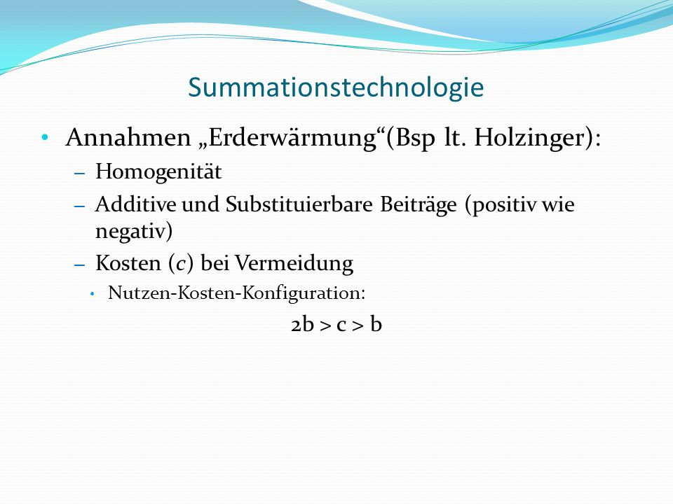 Summationstechnologie