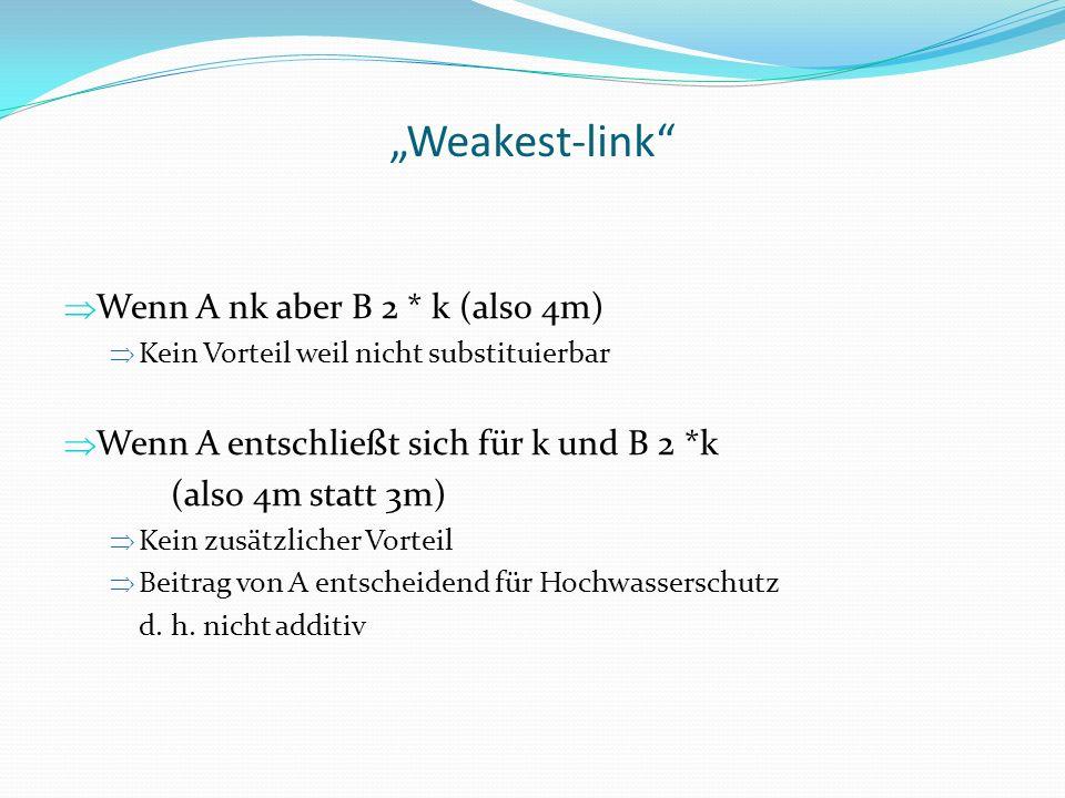 """""""Weakest-link Wenn A nk aber B 2 * k (also 4m)"""