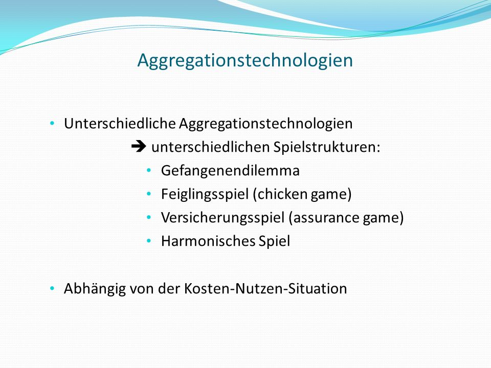 Aggregationstechnologien