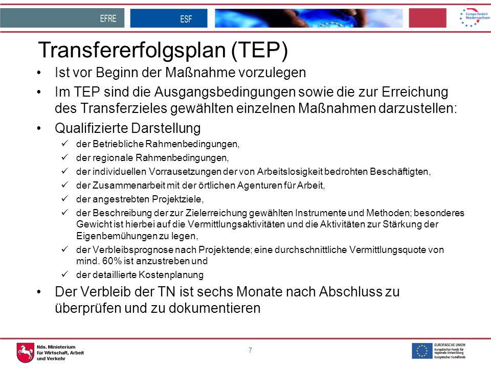 Transfererfolgsplan (TEP)