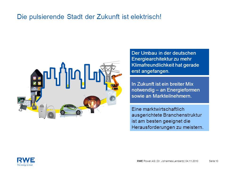 Die pulsierende Stadt der Zukunft ist elektrisch!
