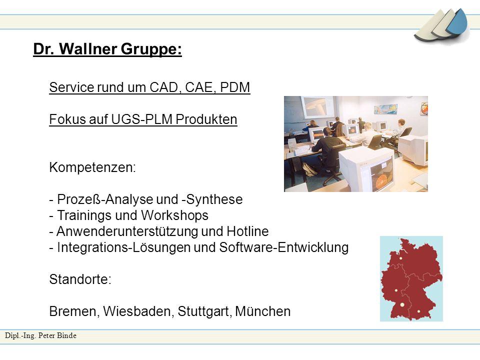 Dr. Wallner Gruppe: Service rund um CAD, CAE, PDM