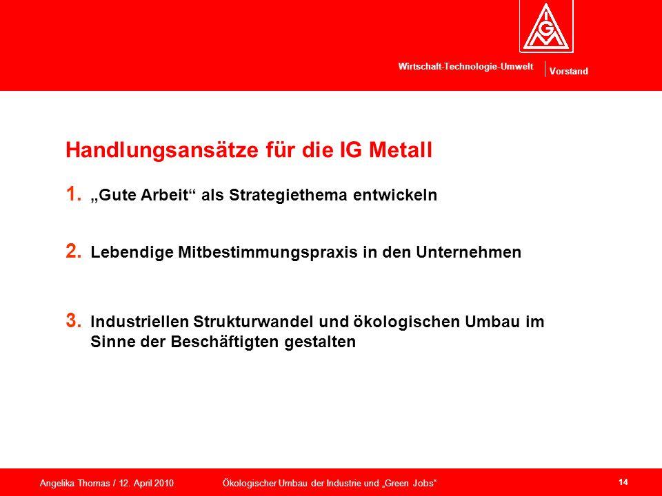 Handlungsansätze für die IG Metall