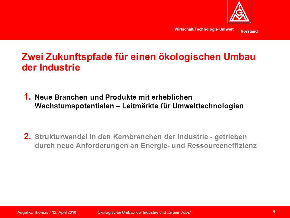 Zwei Zukunftspfade für einen ökologischen Umbau der Industrie