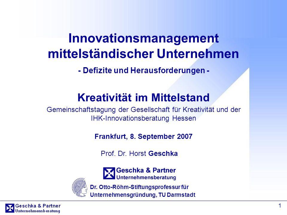 Innovationsmanagement mittelständischer Unternehmen - Defizite und Herausforderungen - Kreativität im Mittelstand