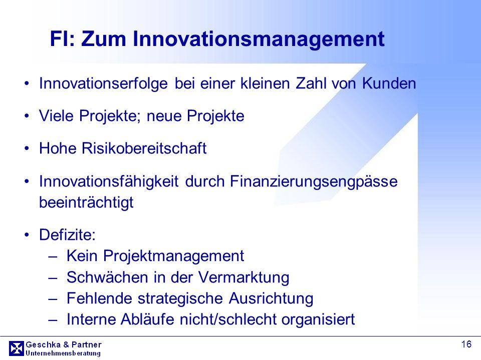 FI: Zum Innovationsmanagement