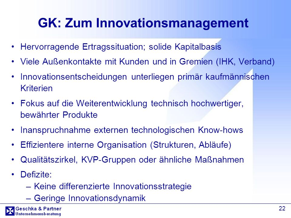 GK: Zum Innovationsmanagement