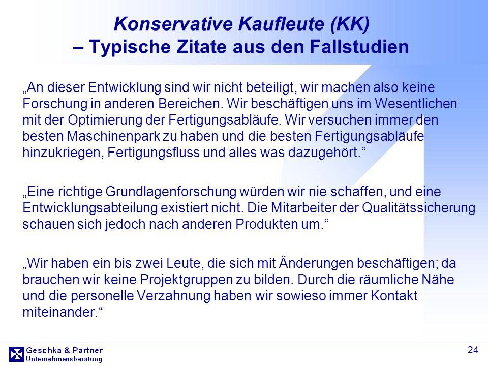Konservative Kaufleute (KK) – Typische Zitate aus den Fallstudien