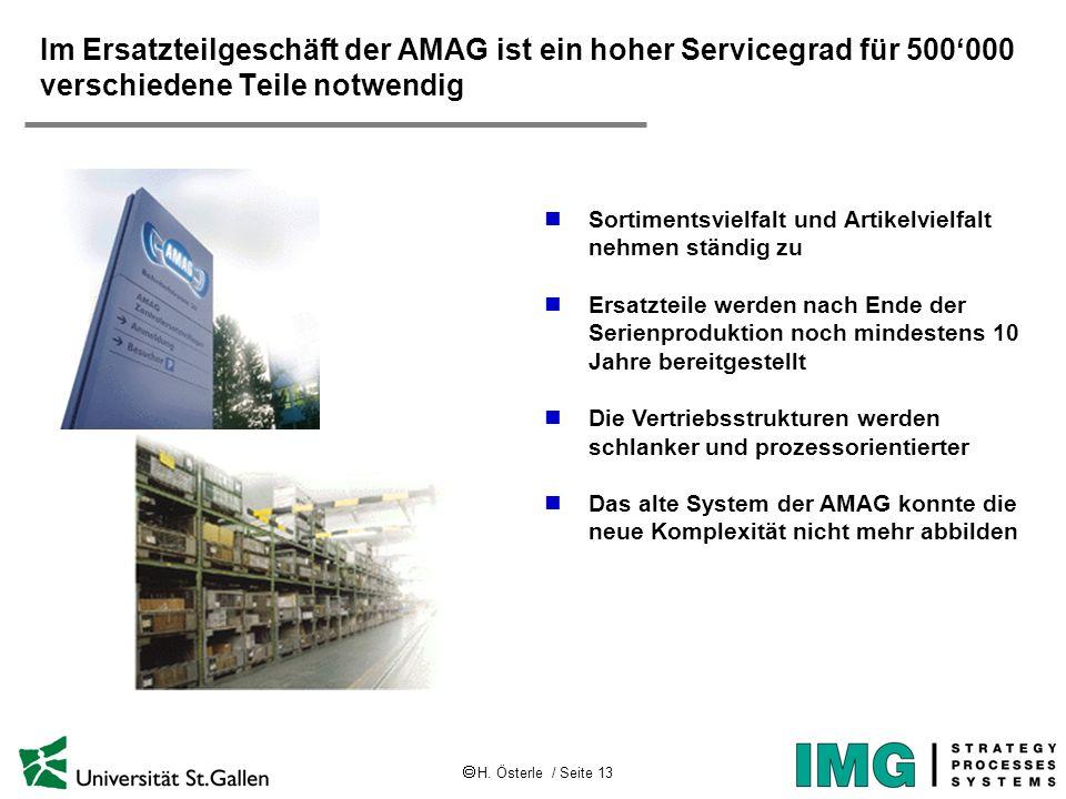 Im Ersatzteilgeschäft der AMAG ist ein hoher Servicegrad für 500'000 verschiedene Teile notwendig