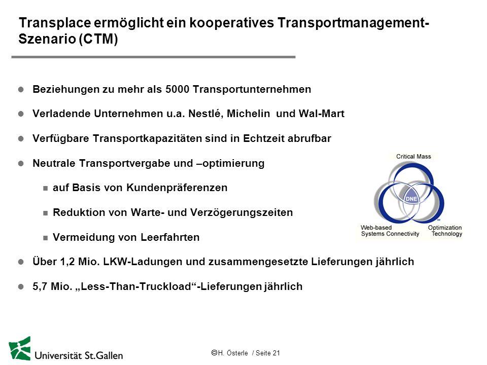 Transplace ermöglicht ein kooperatives Transportmanagement-Szenario (CTM)