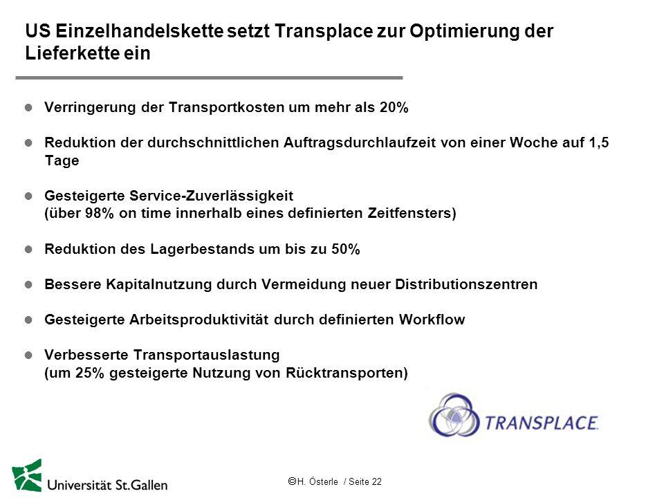 US Einzelhandelskette setzt Transplace zur Optimierung der Lieferkette ein
