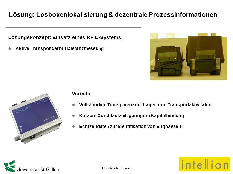 Lösung: Losboxenlokalisierung & dezentrale Prozessinformationen