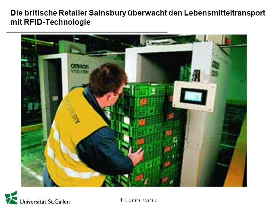 Die britische Retailer Sainsbury überwacht den Lebensmitteltransport mit RFID-Technologie
