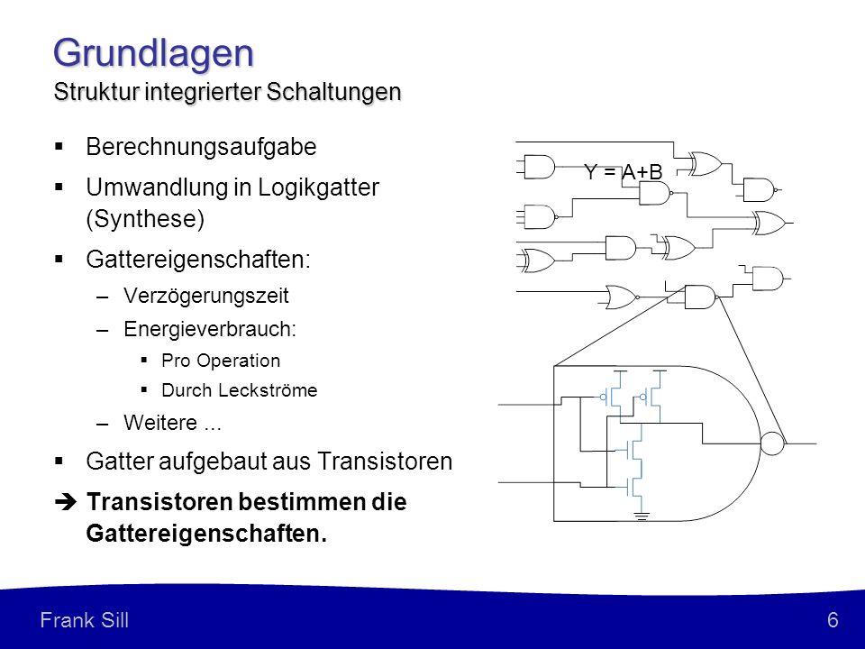Grundlagen Struktur integrierter Schaltungen Berechnungsaufgabe