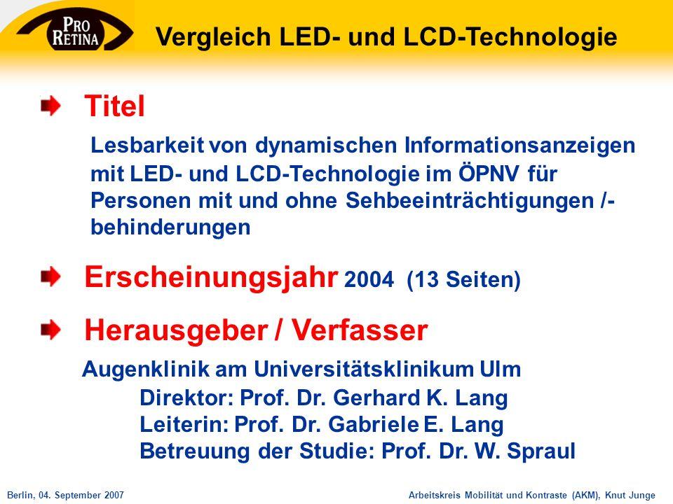 Vergleich LED- und LCD-Technologie