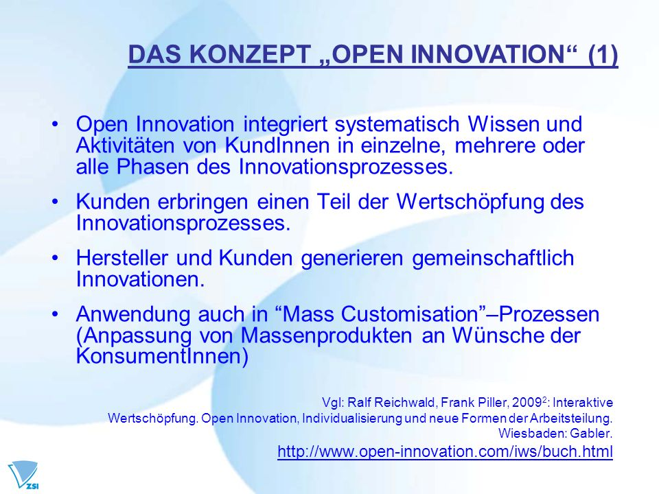 "DAS KONZEPT ""OPEN INNOVATION (1)"