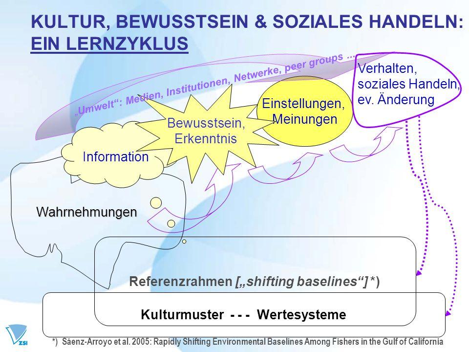 KULTUR, BEWUSSTSEIN & SOZIALES HANDELN: EIN LERNZYKLUS