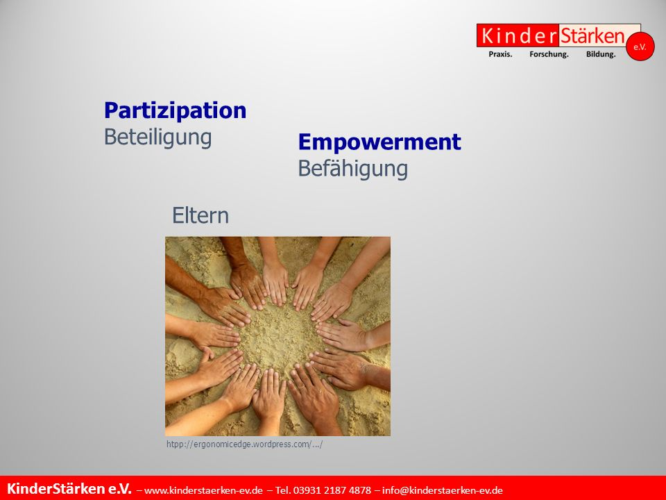 Partizipation Beteiligung Empowerment Befähigung