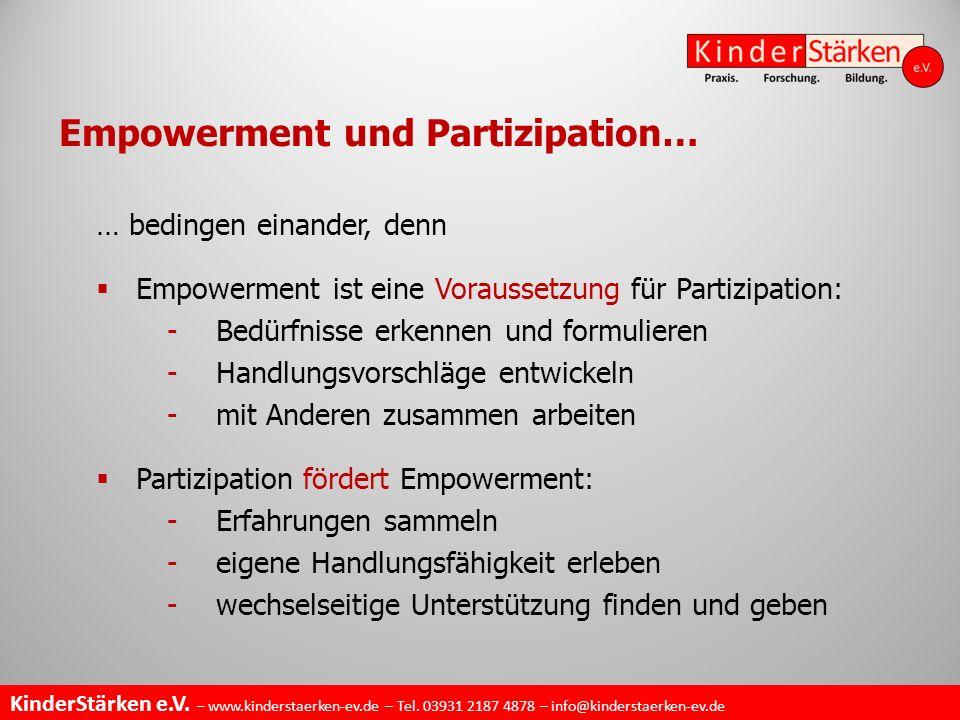 Empowerment und Partizipation…