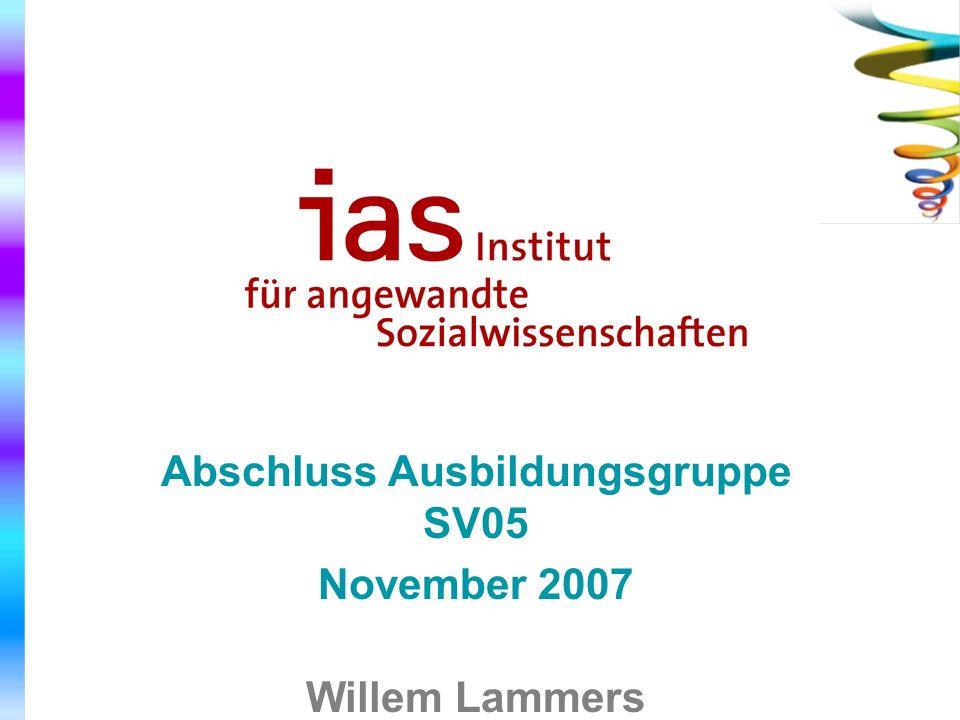 Abschluss Ausbildungsgruppe SV05 Willem Lammers mit Hans Ruijs