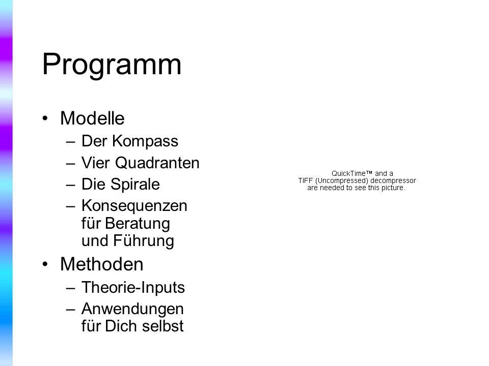 Programm Modelle Methoden Der Kompass Vier Quadranten Die Spirale