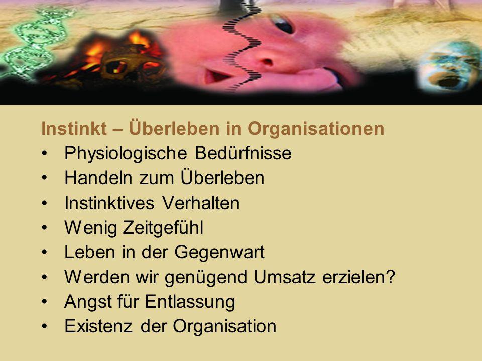 Instinkt – Überleben in Organisationen