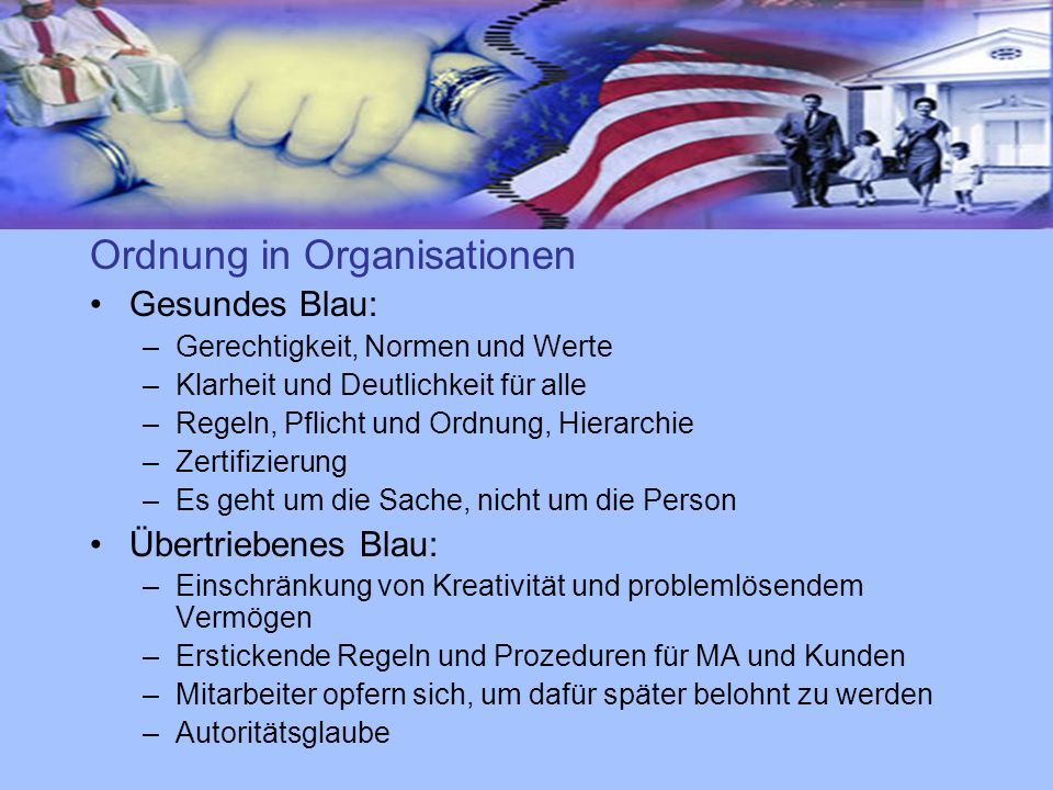 Ordnung in Organisationen