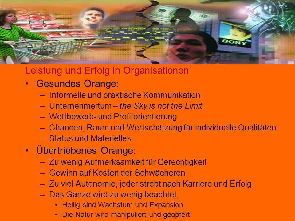 Leistung und Erfolg in Organisationen Gesundes Orange: