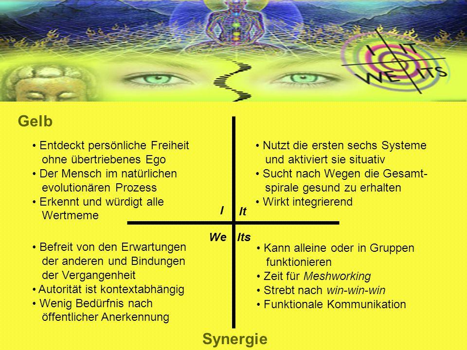 Gelb Synergie Entdeckt persönliche Freiheit ohne übertriebenes Ego