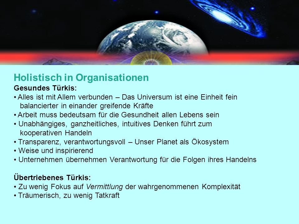 Holistisch in Organisationen