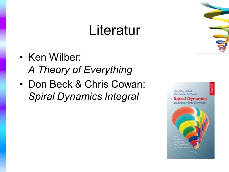 Literatur Ken Wilber: A Theory of Everything