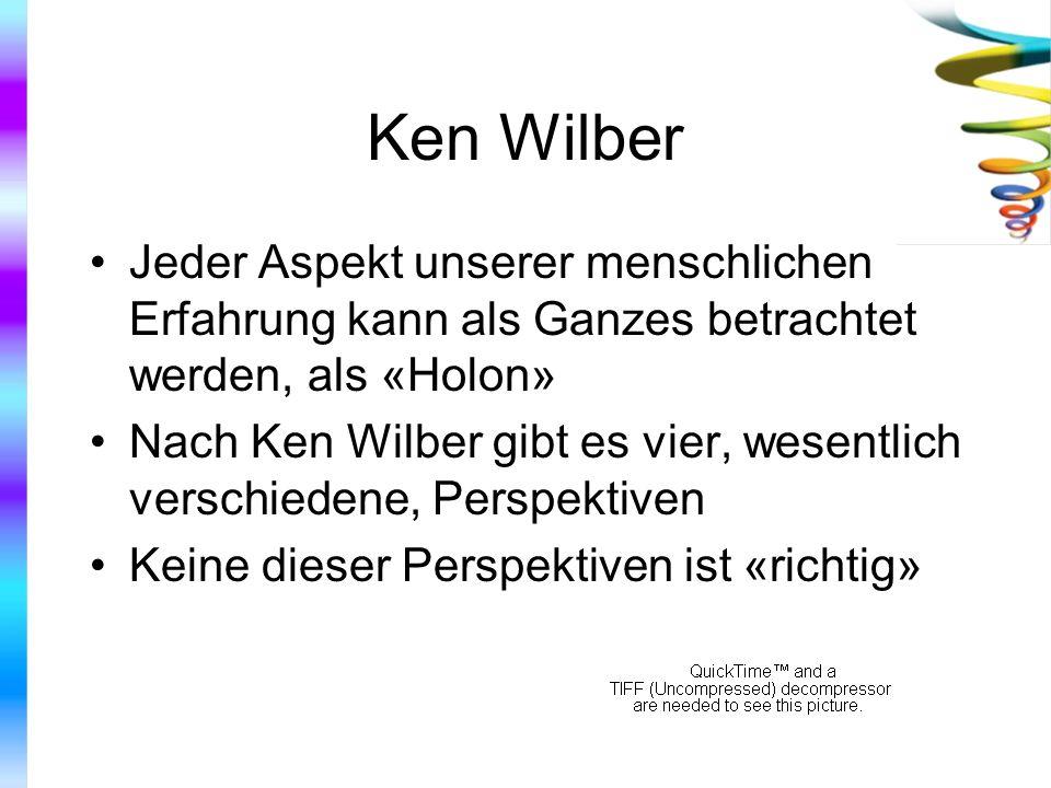 Ken Wilber Jeder Aspekt unserer menschlichen Erfahrung kann als Ganzes betrachtet werden, als «Holon»