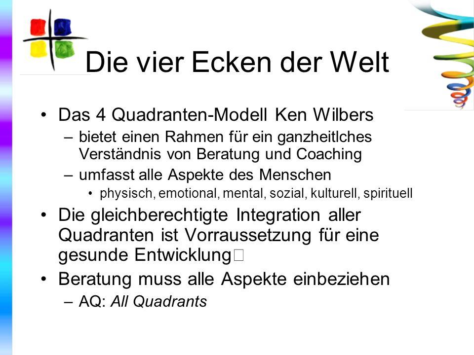Die vier Ecken der Welt Das 4 Quadranten-Modell Ken Wilbers