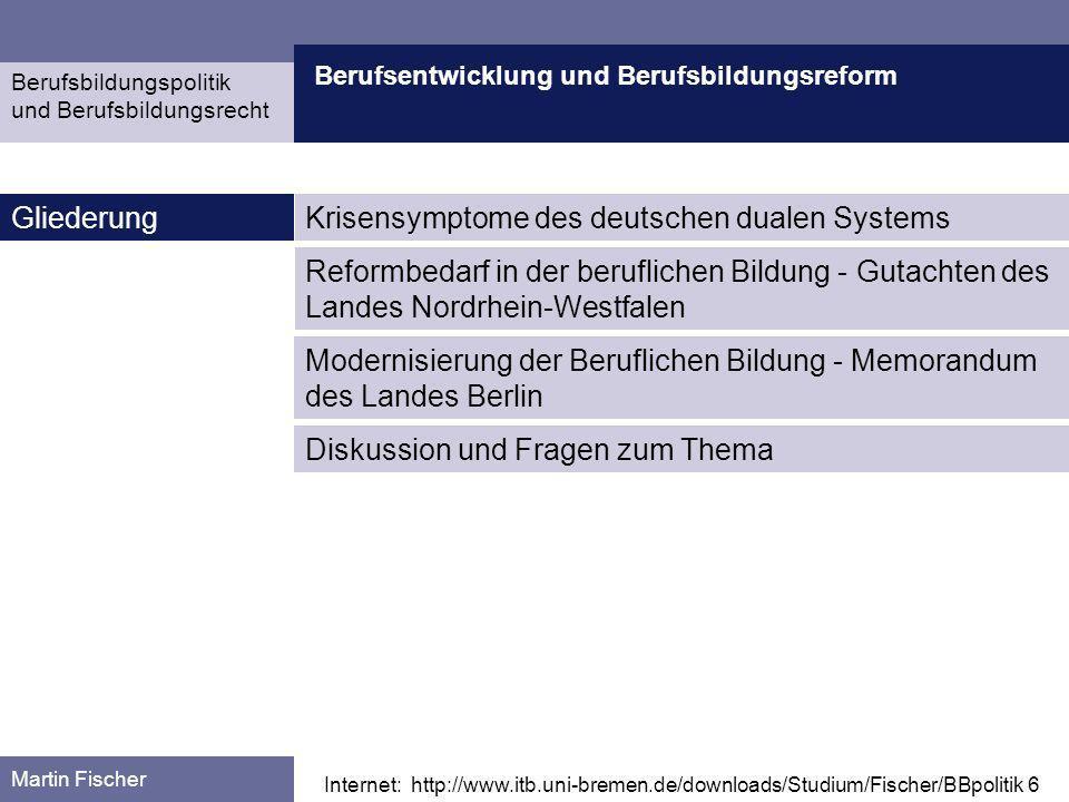 Krisensymptome des deutschen dualen Systems