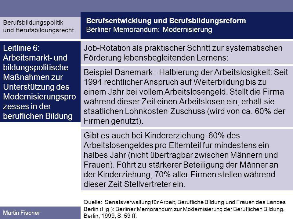 Berufsentwicklung und Berufsbildungsreform