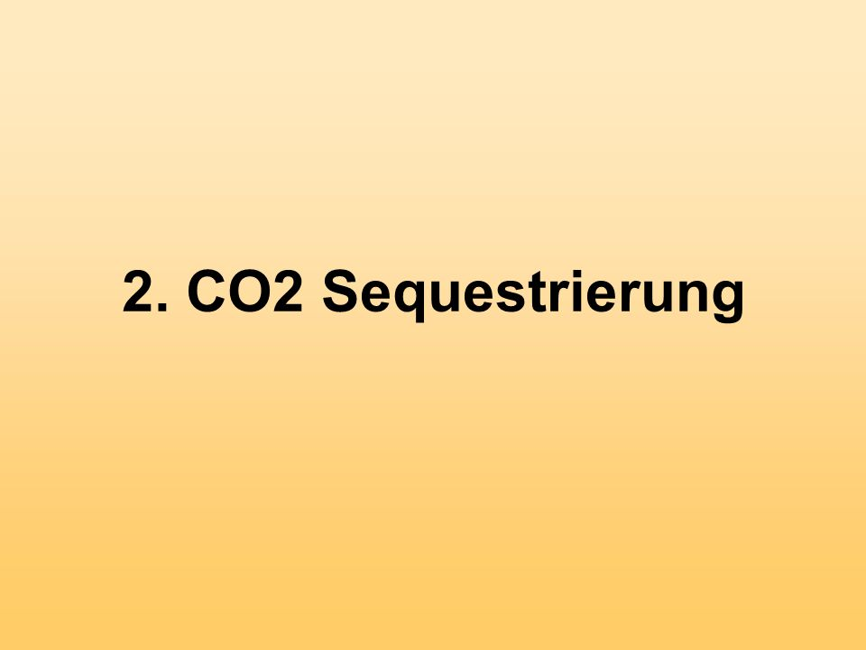 2. CO2 Sequestrierung