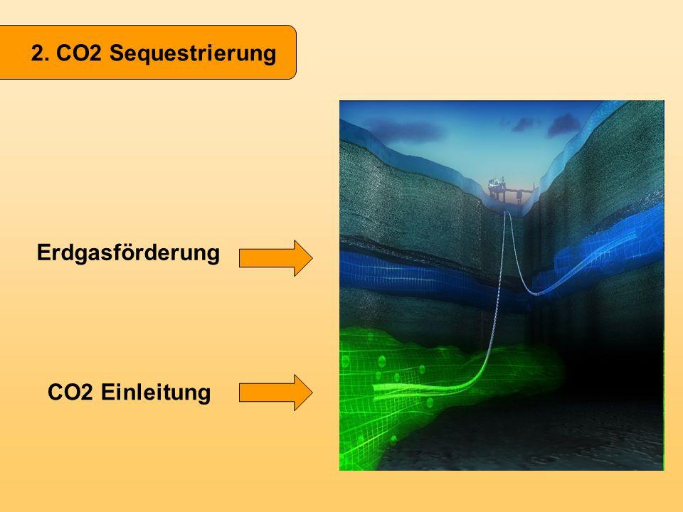 2. CO2 Sequestrierung Erdgasförderung CO2 Einleitung