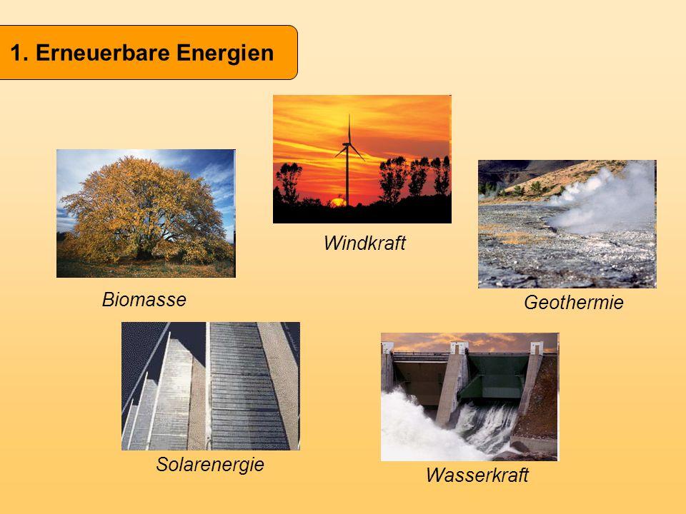 Erneuerbare Energien Windkraft Biomasse Geothermie Solarenergie