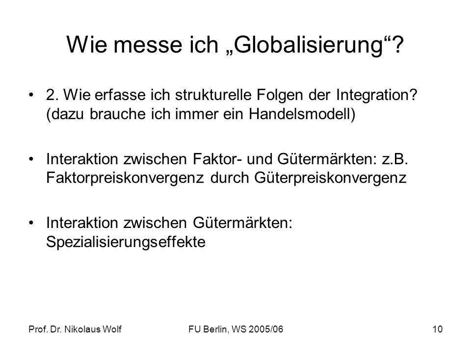 """Wie messe ich """"Globalisierung"""