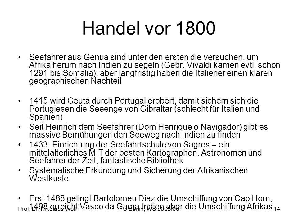 Handel vor 1800