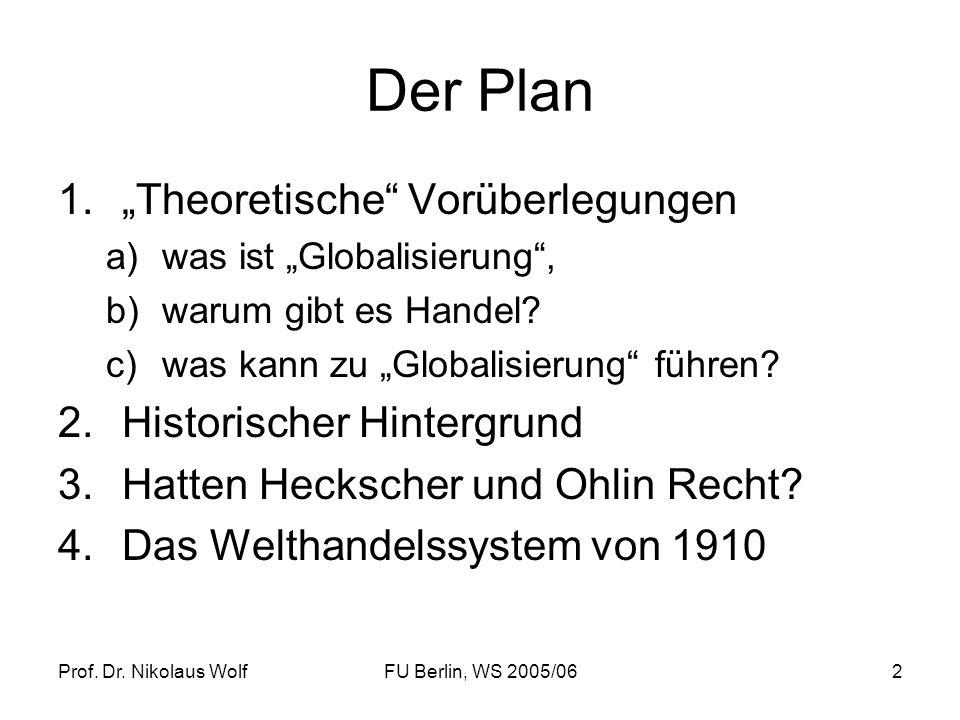 """Der Plan """"Theoretische Vorüberlegungen Historischer Hintergrund"""
