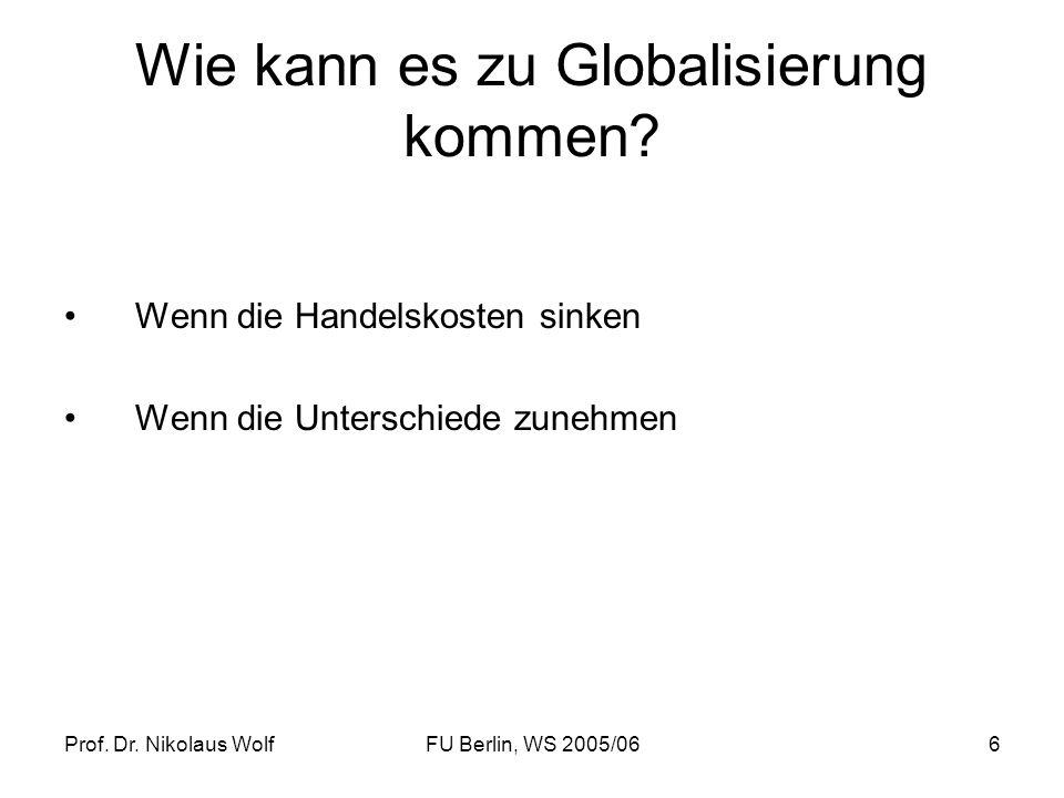 Wie kann es zu Globalisierung kommen